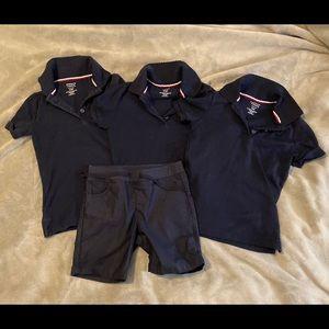 Girls school uniform polo shirts 6/6x